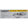 """Cuisinart 14"""" Stir-Fry Pan With Helper Handle & Glass Cover, Chef's Classic Stainless"""