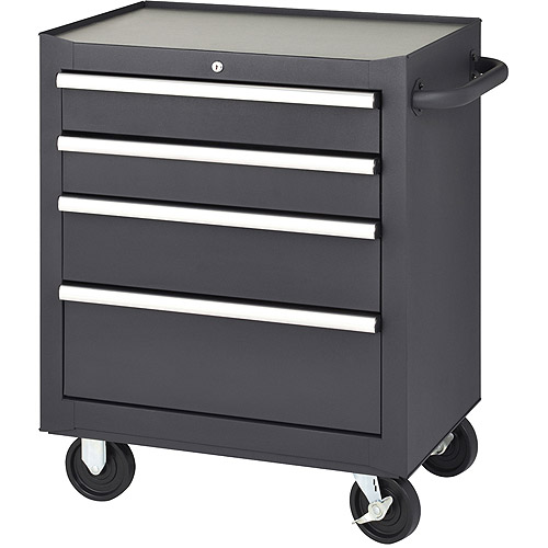 Edsal 5-Drawer Rolling Tool Cabinet, Black