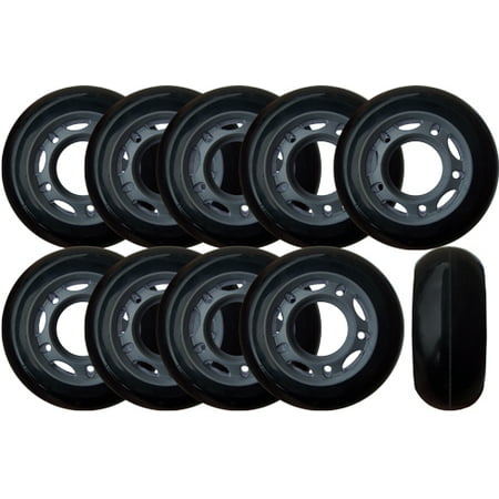 Roller Hockey Goalie Wheels 60mm 82a Set Of 10 For Inline Skates