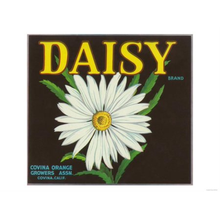 Daisy Brand Citrus Crate Label - Covina, CA Print Wall Art By Lantern Press for $<!---->