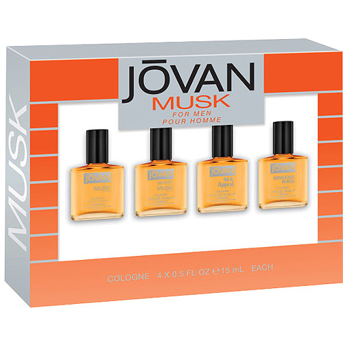 Musk by Jovan for Men Set - Mini Cologne 0.5 oz.x4 New in Box