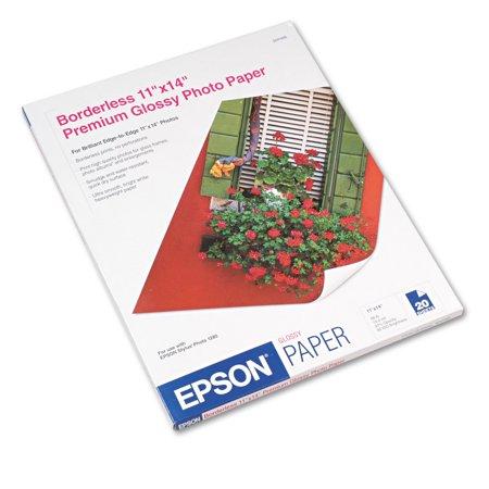 11x14 Borderless Matte Heavyweight Paper - Epson Premium Photo Paper, 68 lbs., High-Gloss, 11 x 14, 20 Sheets/Pack -EPSS041466