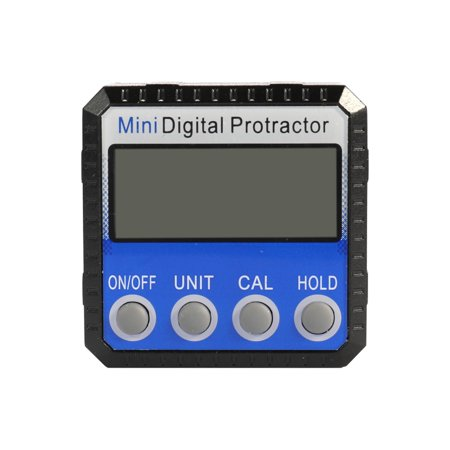 Mini Zinc Alloy Shell Digital Display Protractor Inclinometer 0.1° Resolution Bottom with Magnet