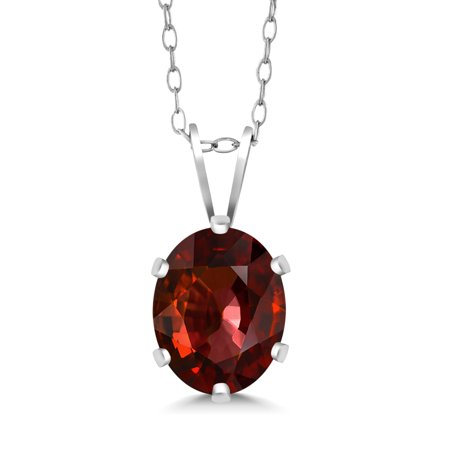 Brown Oval Pendant (1.25 Ct Oval Chocolate Zircon 925 Sterling Silver Pendant With Chain)