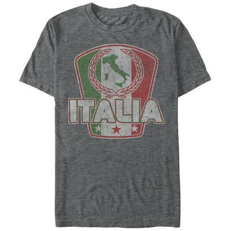 Italy Flag T-shirt - Men's Italy Flag Map T-Shirt