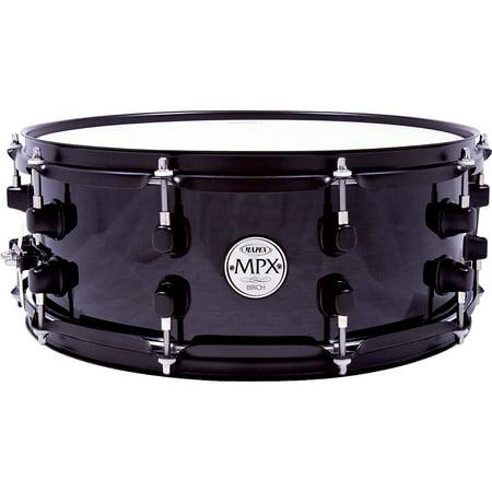 Mapex MPX Birch Snare Drum 14 in. x 5.5 in. Black Birch Drum Shell