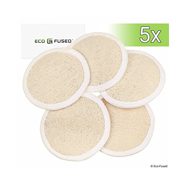 Loofah Pads Pack Of 5 Exfoliating Scrubbing Sponges Natural