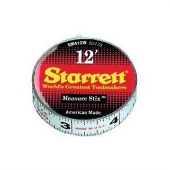 Measure Stix - L.S. STARRETT SM412W 1/2' x 12' Measure Stix Tape W/ Adhesive Backing 1/EA
