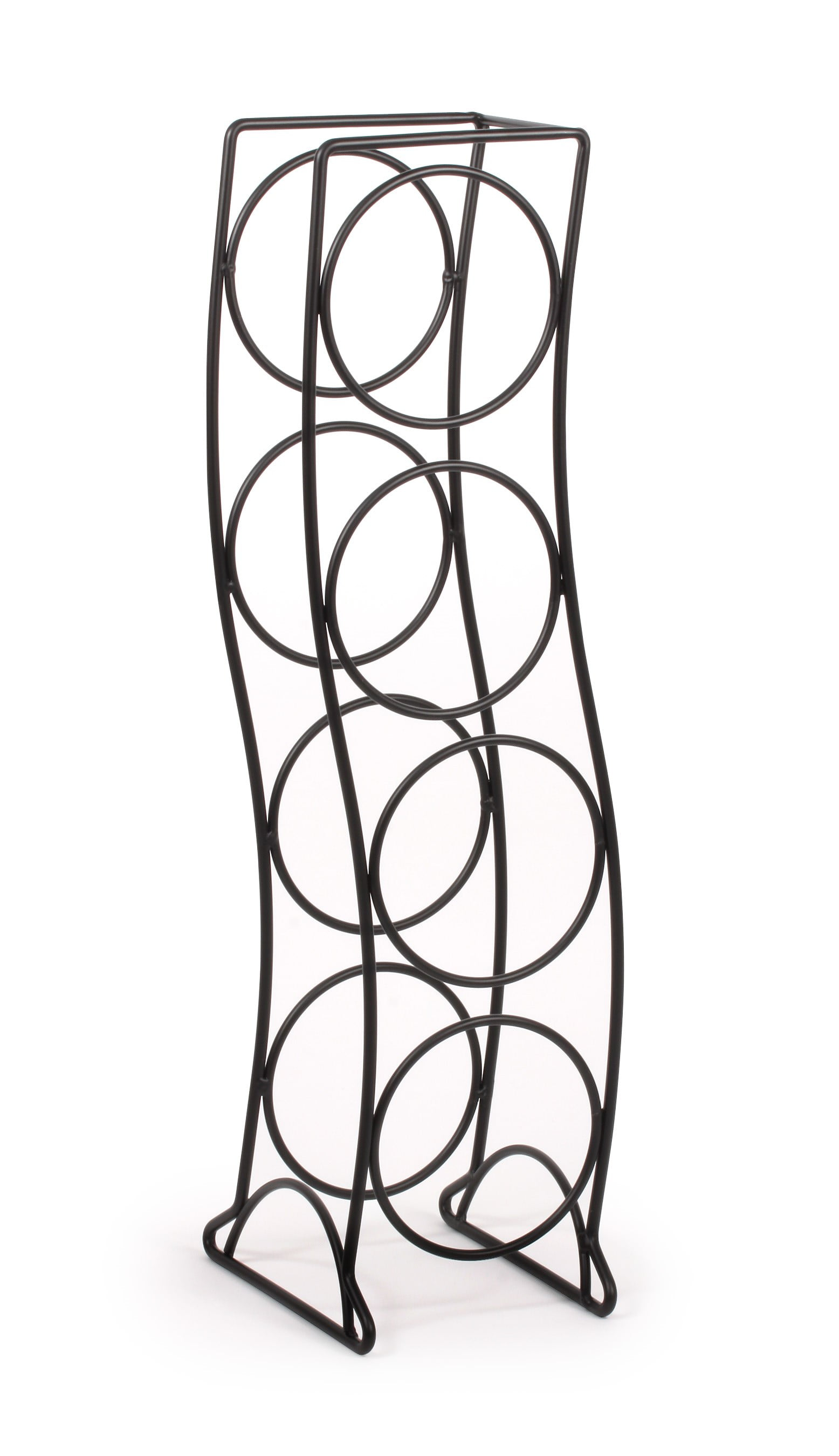 Spectrum Diversified Designs Curve 4 Bottle Wine Rack, Black by Spectrum Diversified Designs