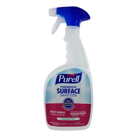 Purell Foodservice Surface Sanitizer, 32 oz Spray Bottles, Fragrance Free | 6 Per Case