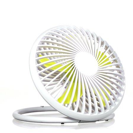 Quiet USB Desk Fun Mini Fan 180 Degree Rotation Desktop Tabletop Dorm Office - image 3 of 7
