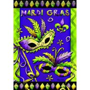 Carson Home Accents FlagTrends Classic Large Flag, Mardi Gras Fun