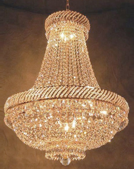"Click here to buy French Empire Crystal Chandelier Lighting H26"" X W23""."
