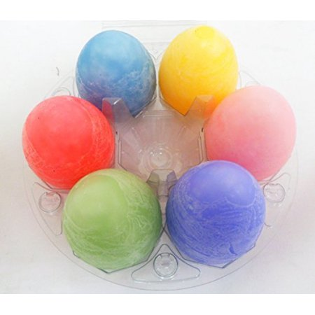 Scented Flameless Wax Candle Eggs Set- 6 Assorted Aromatic Candles Included