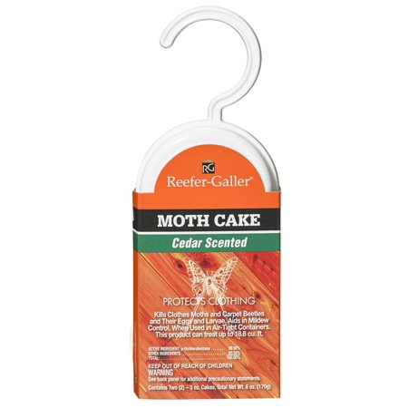 reefer galler moth cake cedar 3 oz 2 ct