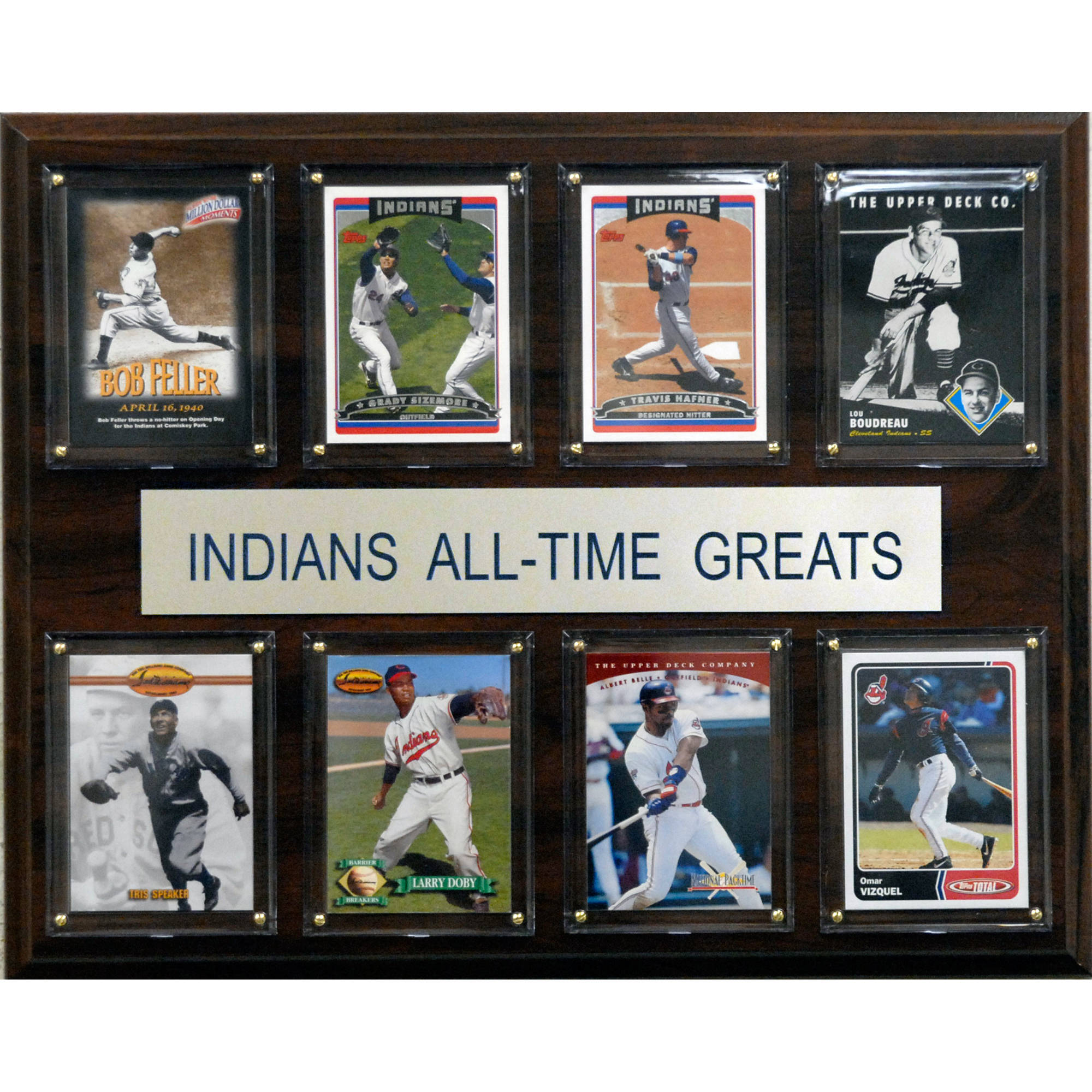 C&I Collectables MLB 12x15 Cleveland Indians All-Time Greats Plaque