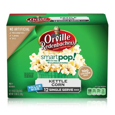 Orville Redenbacher's SmartPop! Kettle Corn Popcorn, 1.16 Oz., 12