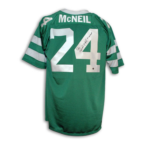 """NFL - Freeman McNeil New York Jets Autographed Green Throwback Jersey Inscribed """"3X Pro Bowl"""""""