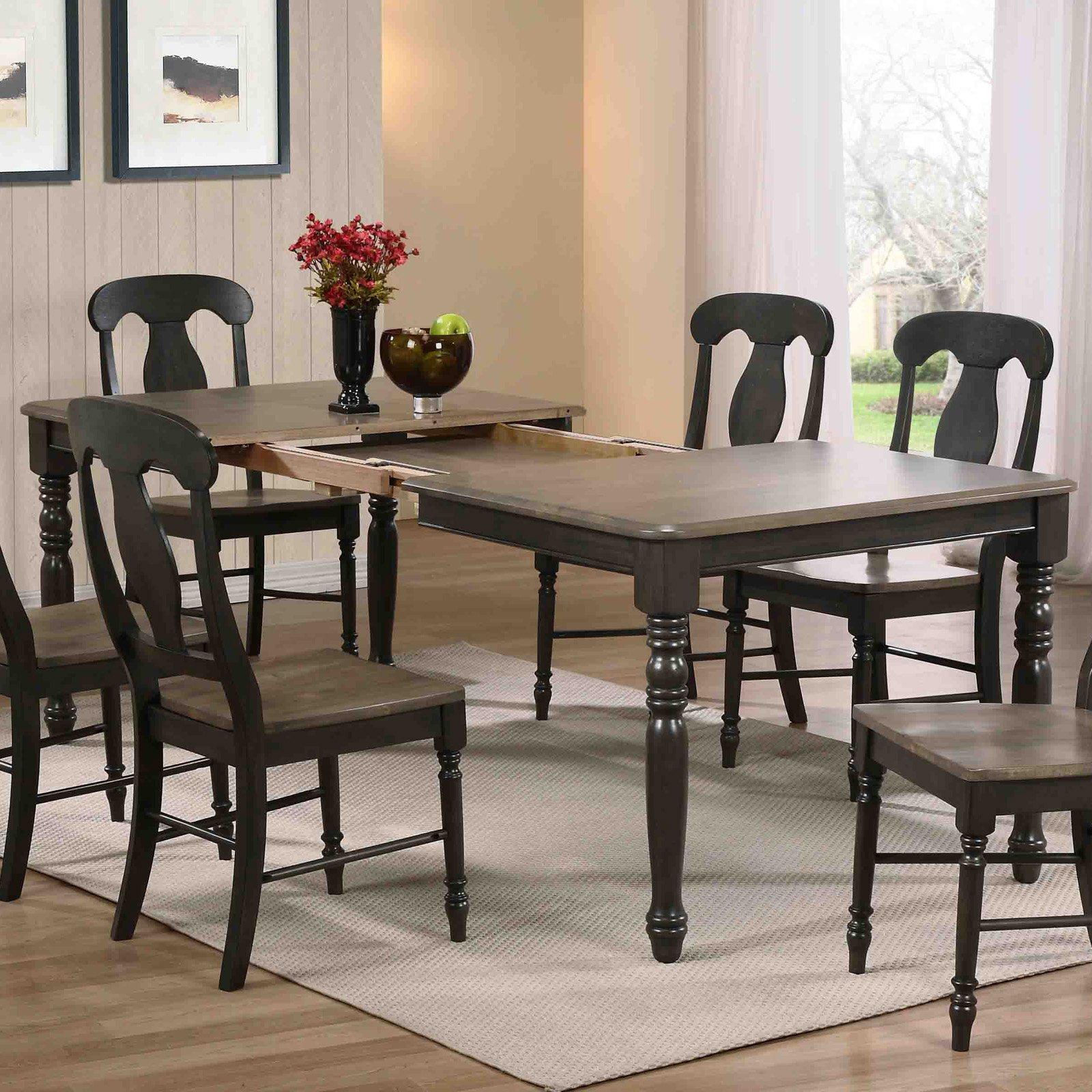 Iconic Furniture Turned Leg Rectangular Dining Table