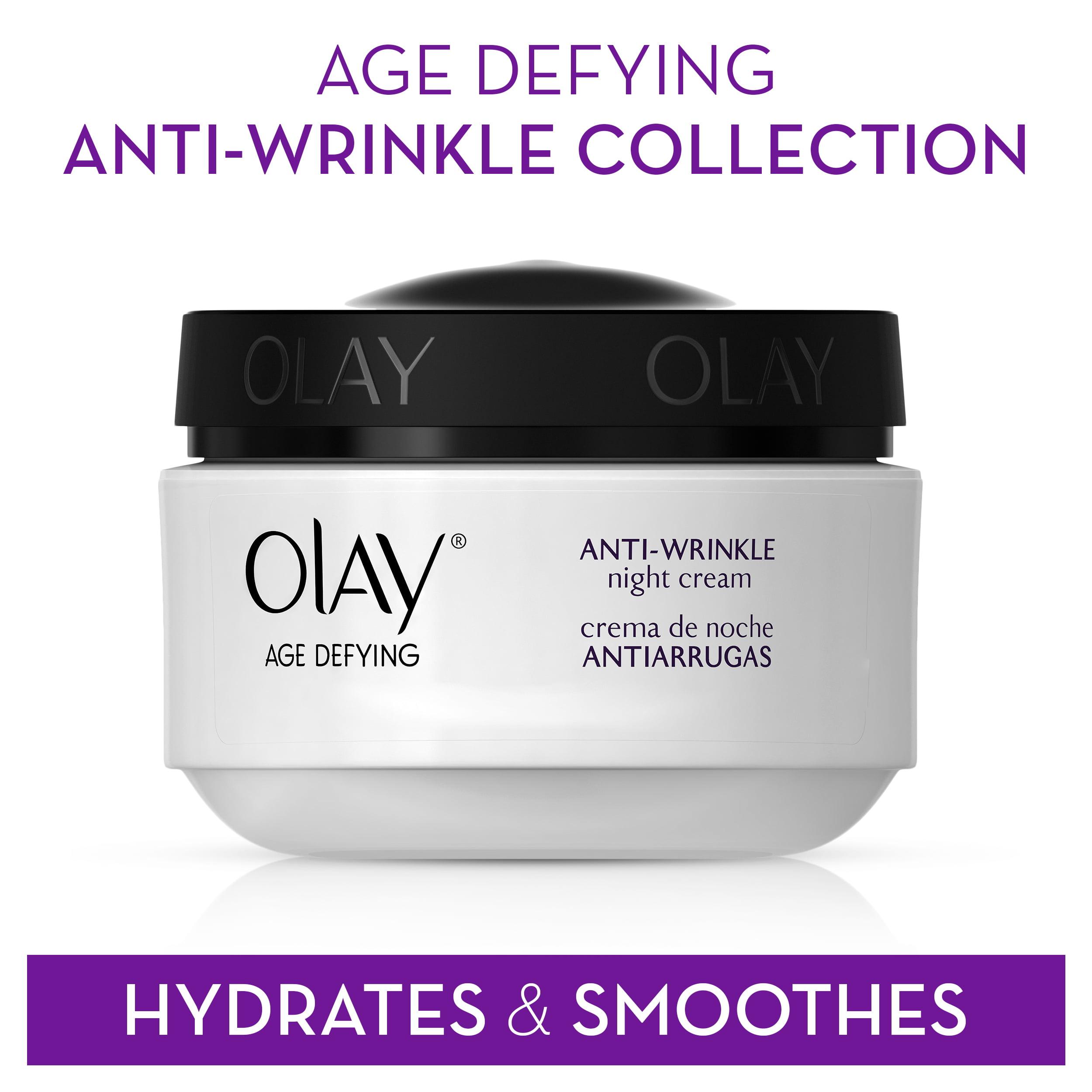 Olay Age Defying Anti Wrinkle Night Cream 2 0 Oz Walmart Com Walmart Com