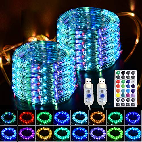 Glpe Led Rope Lights 2 Pack X 33ft 100, Led Outdoor Rope Lights