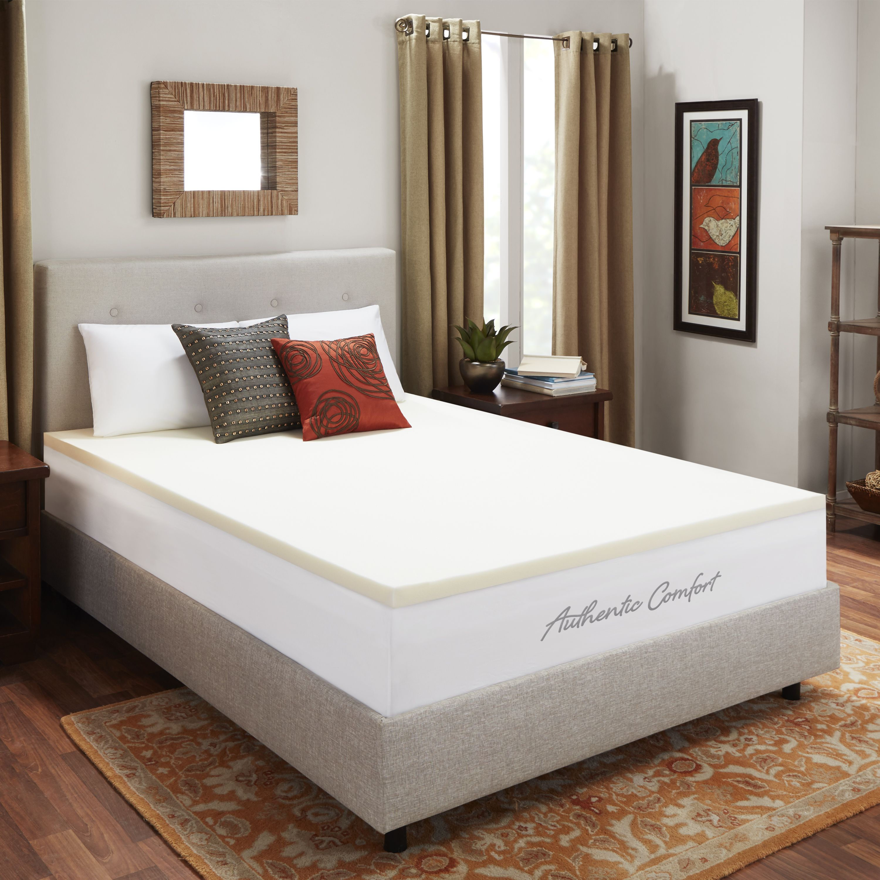2-Inch Breathable Memory Foam Mattress Topper