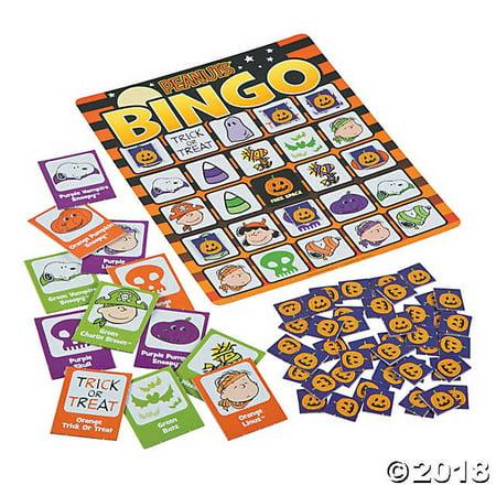 Peanuts Halloween Bingo Game - Halloween Speech Bingo