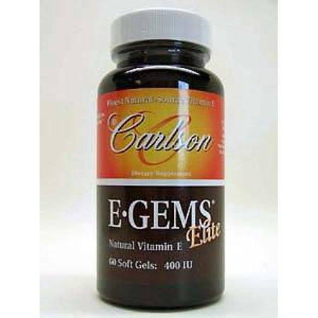 Carlson Labs, EGems Elite 400 IU 60 gels ()