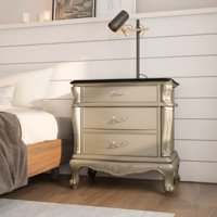 Furniture of America Katelynn Royalty-Inspired Nightstand, Gold