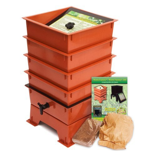 The Worm Factory® 4-Tray Worm Composter - Terra Cotta