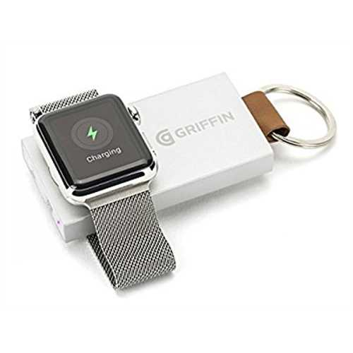 Refurbished Griffin Travel Power Bank Backup Battery for Apple Watch Ultra-Portable Recharging Key Chain for Apple Watch by