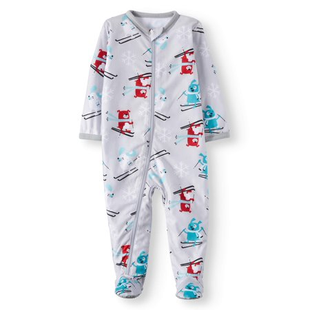 Family PJs Family Sleep Holiday Ski Dogs Blanket Sleeper (Baby Boys or Baby Girls Unisex)