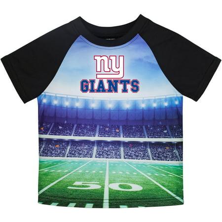 Ny New York Giants T-shirt - Toddler Gerber Black New York Giants Stadium T-Shirt
