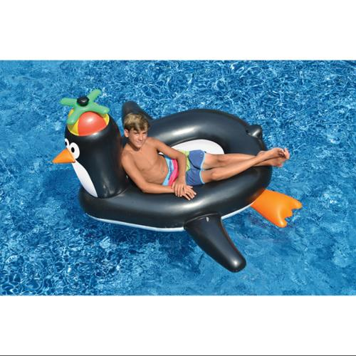 Swimline Swimming Pool Giant Rideable Happy Penguin Inflatable Float Toy | 90630