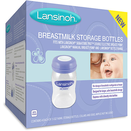 Lansinoh Breastmilk Storage Bottles, 4ct, BPA-Free