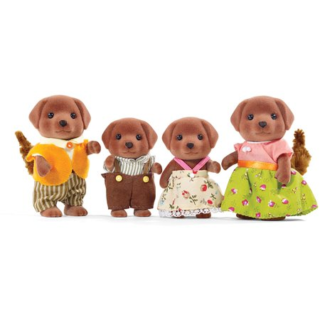 Calico Critters Chocolate Labrador Family (Calico Critters Storage)