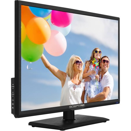 "Refurbished Sceptre 24"" Class FHD (1080P) LED TV (E246BD-FC8N) with Built-in DVD"