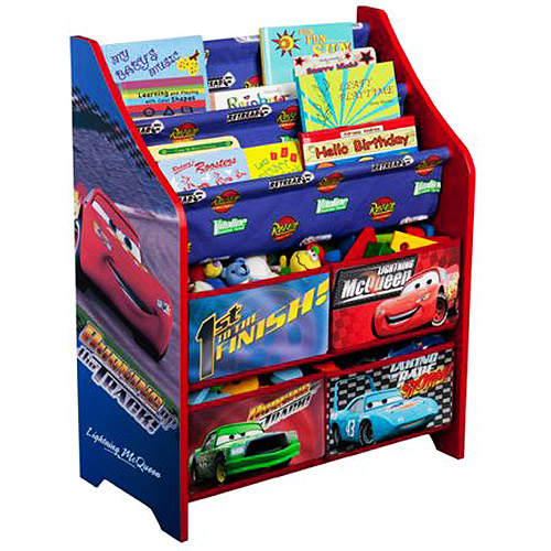 Delta Children Disney Cars Book and Toy Organizer