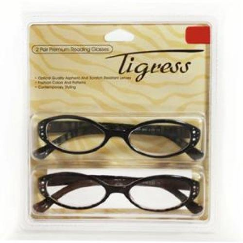 Allure Eyewear 2.0 Tigress 2pk Reader Bk Brown