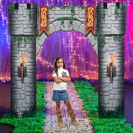 9 ft. 4 in. Fantasy Knights Castle Entrance](Knight Decorations)