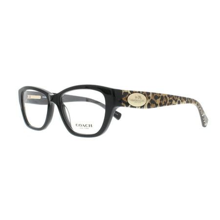 COACH Eyeglasses HC 6070 5342 Black/Wild Beast (Leopard Eyeglasses)