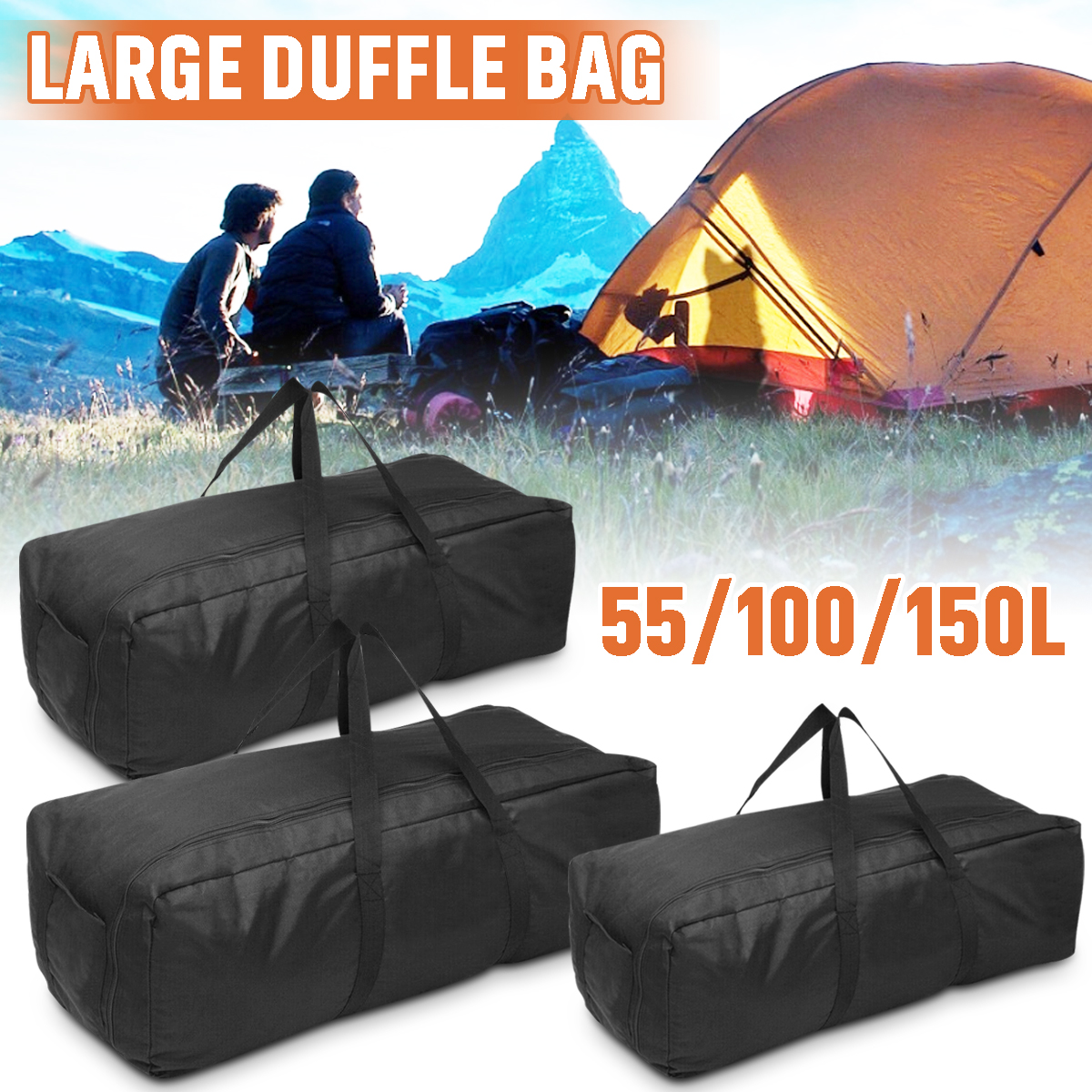 Details about  /Foldable Duffel Bag Luggage Storage Travel Pouch Shoulder Bag Oxford Waterproof