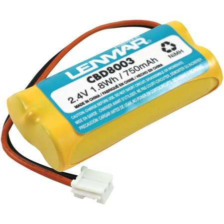CBD8003 2.4V 750mAh NiMH Replacement Battery for V-Tech 8003 cordless phone battery, Replaces V-Tech 8003 By Lenmar