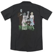 The Munsters The Family (Back Print) Mens Work Shirt