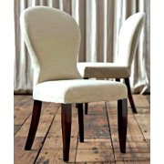 A Line Furniture 'Hannah' Saddle Back Leatherette Dining Chairs (set of 2)