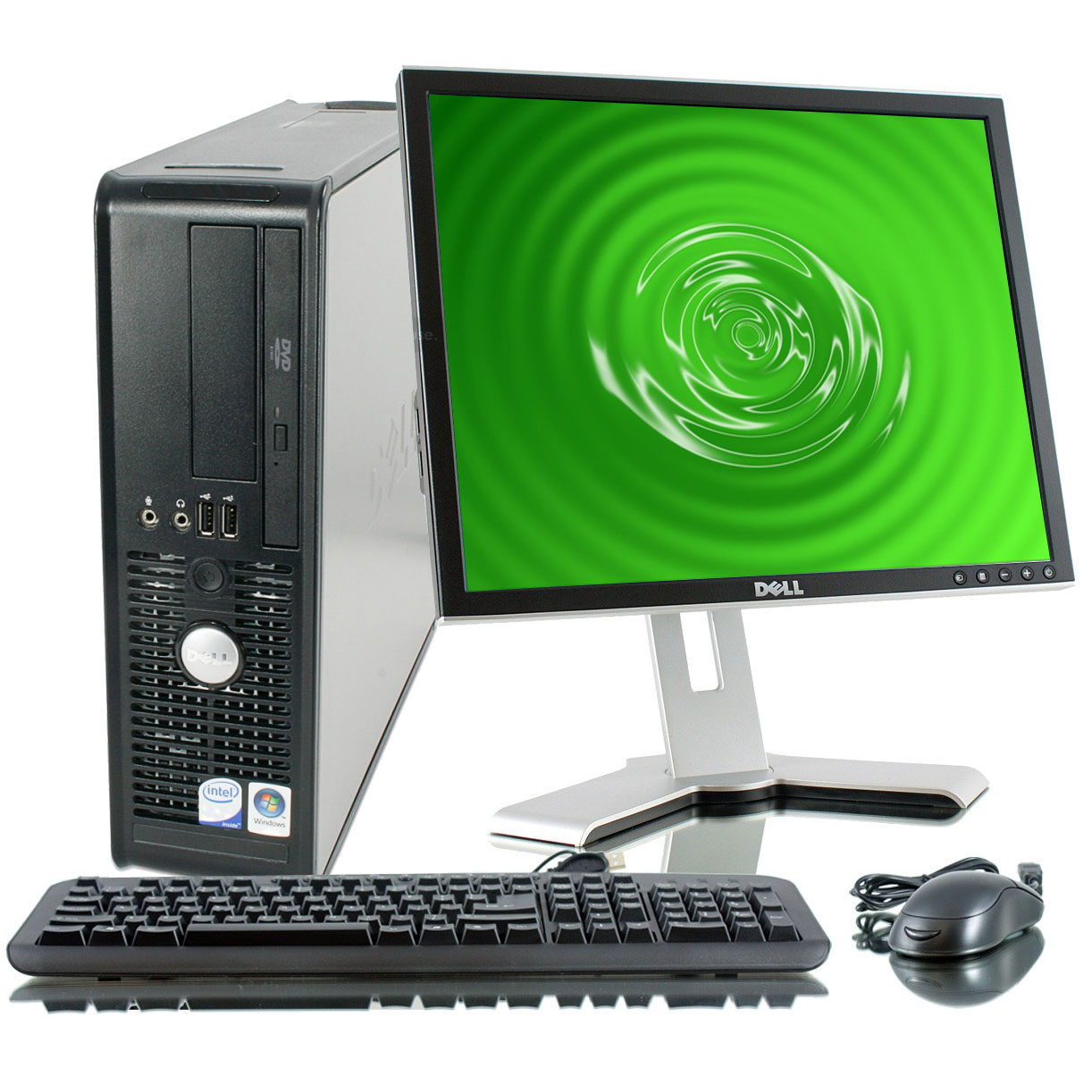 "Off Lease REFURBISHED Dell Optiplex 755 C2D 2.3Ghz 2GB 80GB DVD Win 7 Home Desktop Computer + 17""LCD"