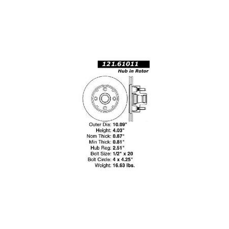 Go-Parts » 1980-1988 Ford Thunderbird Front Disc Brake Rotor for Ford Thunderbird (Base / GT) 02 Gt Brake Rotors