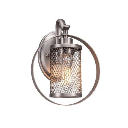Infinity Brushed Nickel Finish - Infinity  1 Light Wall Sconce Shown In Brushed Nickel Finish Metal Shade - round