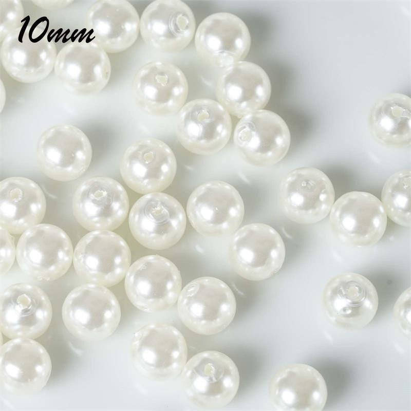 Efavormart 10MM  Wedding Faux Pearl Beads Garland Loose Faux Pearl Beads for Jewelry Making Supplies Or Vase Fillers - 1000 PCS
