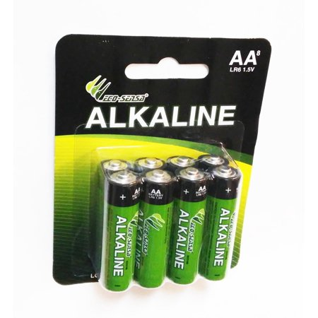 Eco-Sensa ECO188 Long Lasting Alkaline AA Battery - (Best Long Lasting Aa Batteries)